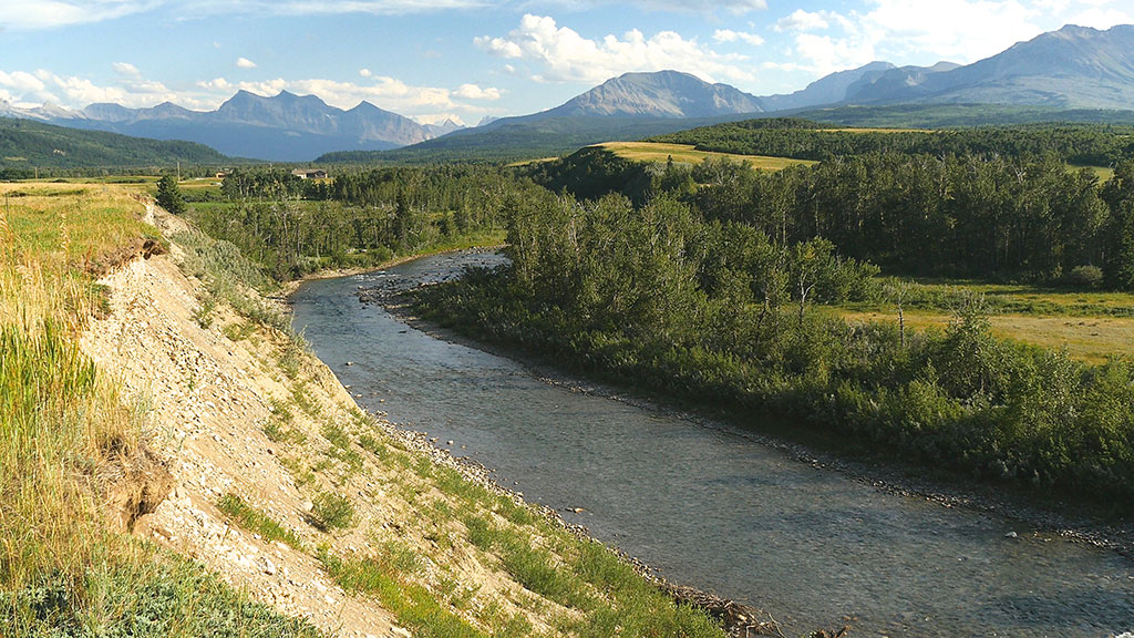 Alberta rivers are the triangulation point to the Pacific, Gulf of Mexico and the Hudson Bay