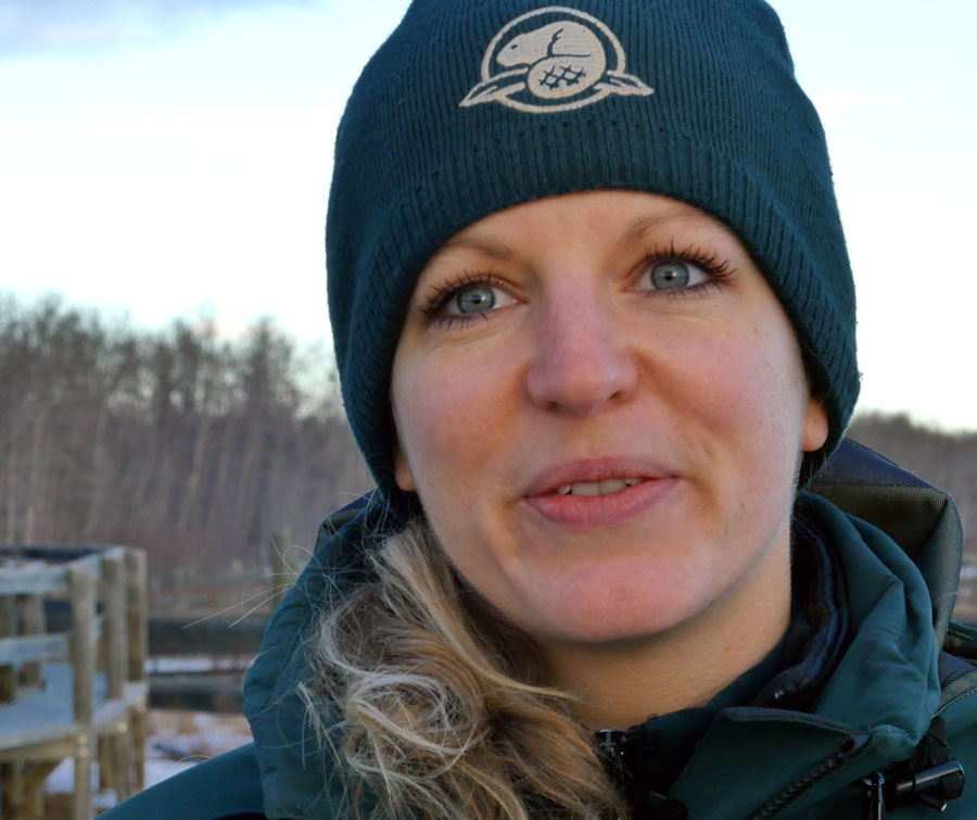 Pinetta Robinson is the lead in Bison Conservation at Elk Island National