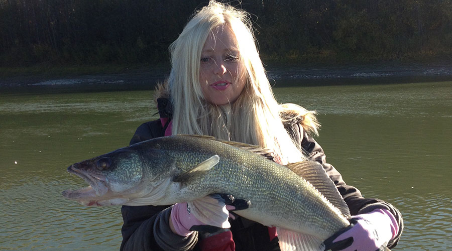 No question river fishing is a great way to land some very large walleye