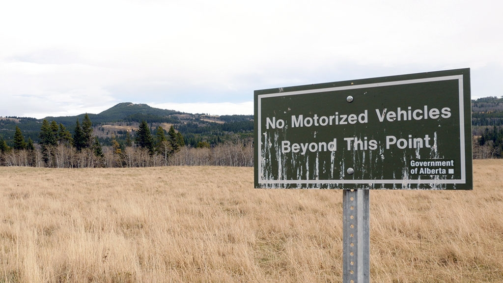 Is this a sign of the times? Tough choices are ahead for the provincial government when it comes to what activities will be allowed on public land.
