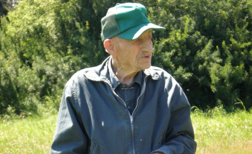 Friedl Pomrenk, taken earlier this summer before he passed at the age of 106 years.