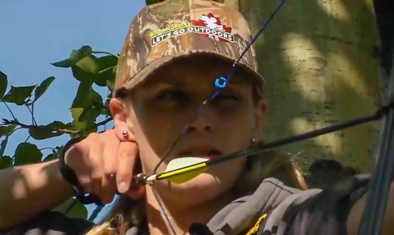 Mary takes aim on a new archery season.
