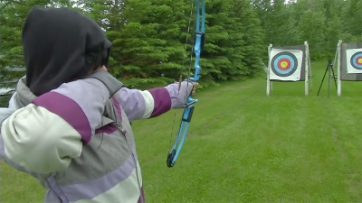 Archery lessons at the Sherwood Park Archery Club