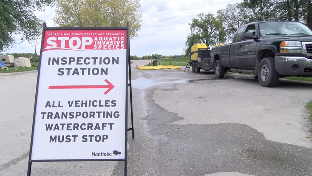 Aquatic Invasive Species Inspection stations are being set up on Manitoba highways