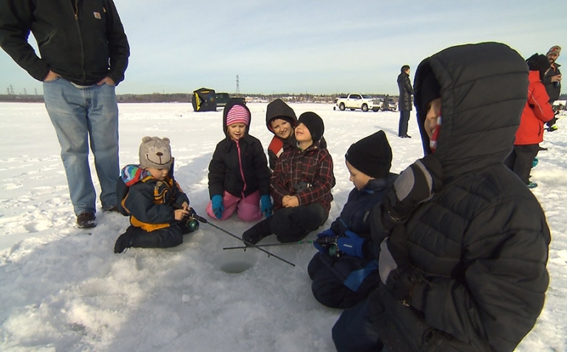 Get your family together for Family Day ice fishing at Lake Wabamun