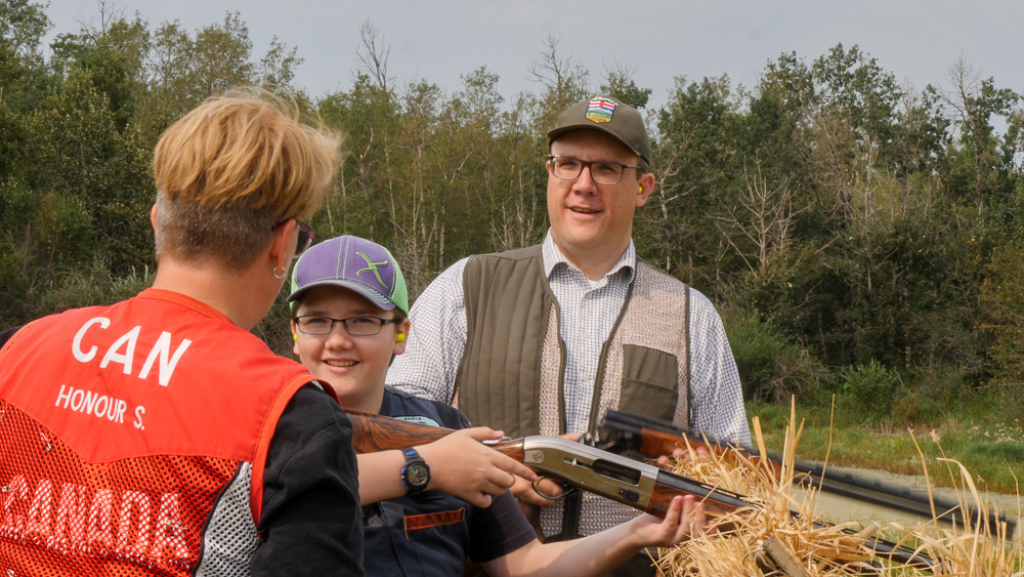 AEP Minister Jason Nixon brought along a crack-shot team to help support the Report A Poacher event.