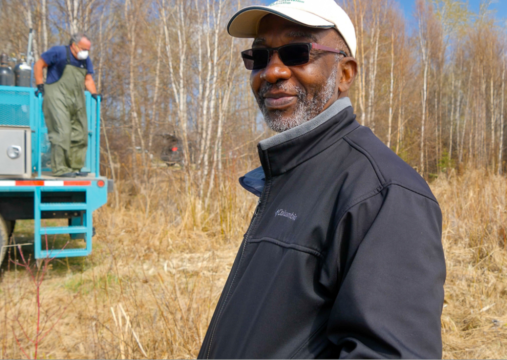 Dr. Peter Aku Senior Scientist, Manager of Fisheries Program, for the Alberta Conservation Association is excited to see five-years of work come together with the stocking  of 5,000 rainbow trout going into Hasse Lake.