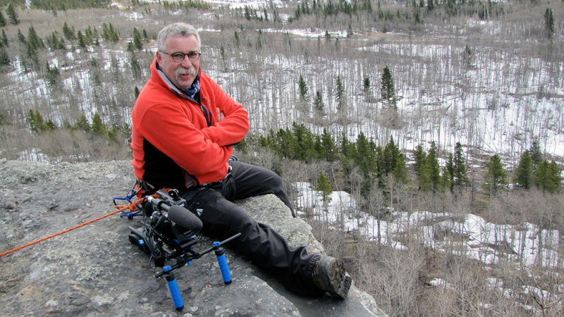 Your host of Let's Go Outdoors, Michael Short - harnessed up, roped in and camera in-hand on the edge of a cliff - pursuing the stories that outdoor enthusiasts want to hear!