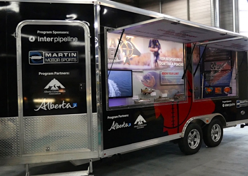 New educational trailer designed to emphasize the importance of understanding hunting and fishing regulations
