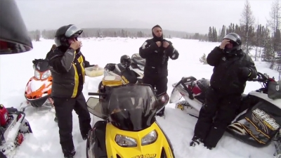 Micheal takes a ride with the Alberta Snowmobile Association