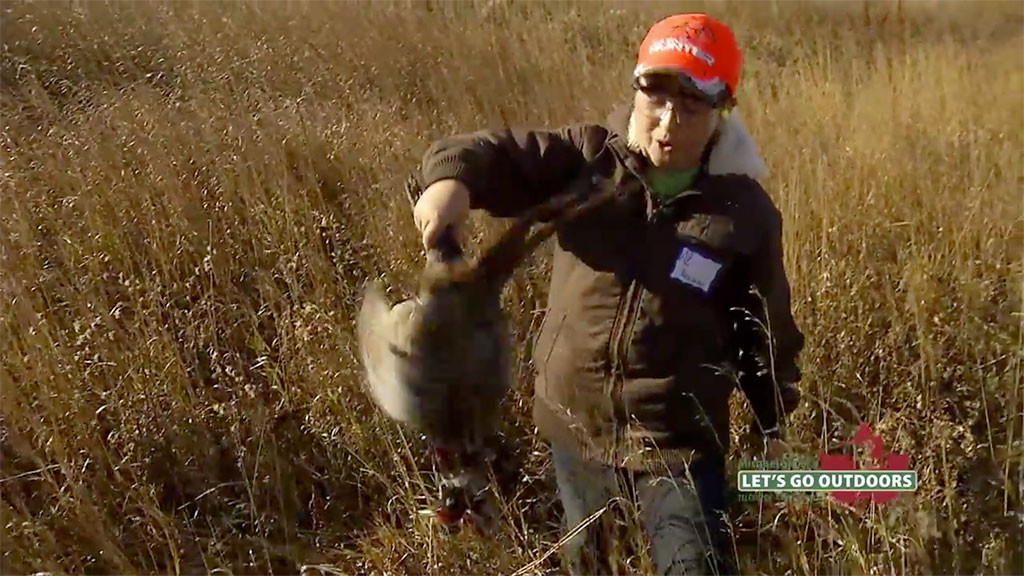 Young pheasant hunter goes nuts